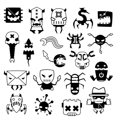 Different Types of Computer Viruses Clip Art